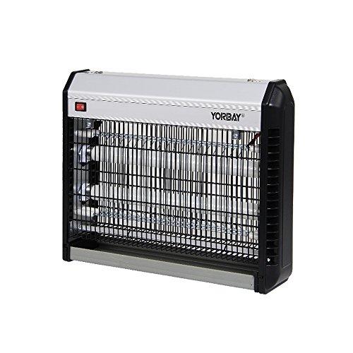 Yorbay elektrischer UV Insektenlampe,GS geprüft, mit Insektenauffangbehälter für Innen und Außen(nicht wasserdicht) (39x32x9cm, 2x10W)
