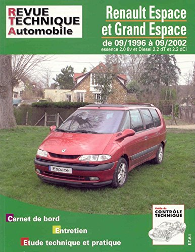 Revue technique de l'Automobile numéro 603.1 : Renault Espace essence et diesel