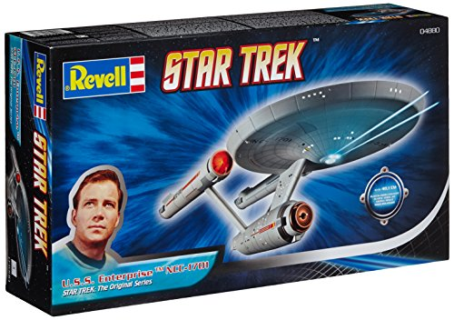 Revell Modellbausatz Star Trek – U.S.S. Enterprise NCC-1701 im Maßstab 1:600, Star Trek The Original Series, Level 3, originalgetreue Nachbildung mit vielen Details – 04880