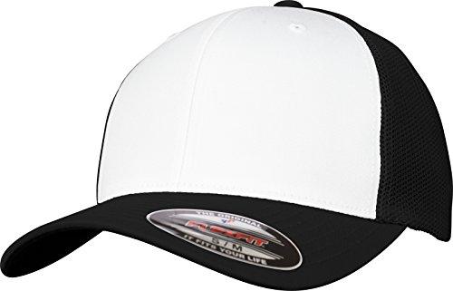 Flexfit Mesh Colored Front Unisex Kappe für Damen und Herren, Trucker Cap zweifarbig