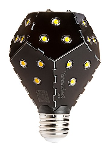 nanoleaf one 1600 - weltweit effizienteste Design LED Birne [A++ | 1.600 Lumen | E27 | 33 LEDs | 360° Grad Abstrahlung | 12W = 100W | Lebensdauer: 30.000 Std. 3000 K] [Energieklasse A++]