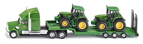 Siku 1837 - Tieflader mit John Deere Traktoren