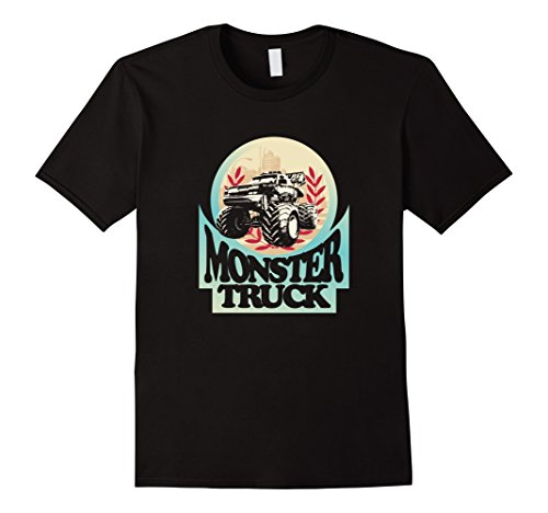 Monster Truck T-Shirt Vintage Trucking Bigfoot Driver Tee Herren, Größe S Schwarz