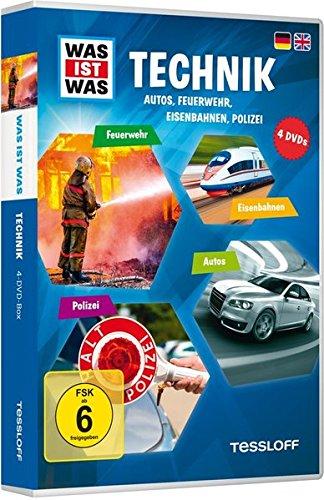 Was ist was: Technik - Autos, Feuerwehr, Eisenbahnen, Polizei [4 DVDs]