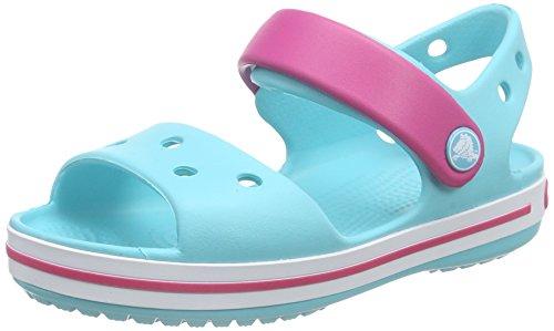 Crocs Crocband, Unisex-Kinder Sandalen, Blau (Pool/Candy Pink 4FV), 23/24 EU