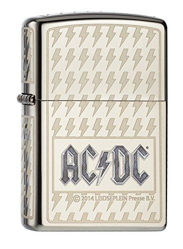 Zippo 60.000.380 Feuerzeug AC,DC Limited Edition 001,500 weltweit – Black Ice – rundum gelasert mit dem Logo in einer Ätzung