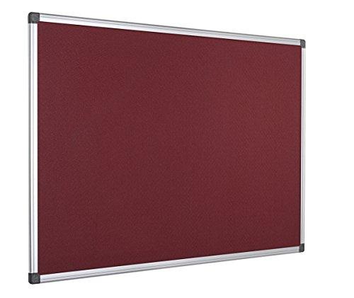Bi-Office Filztafel Maya, Mit Aluminiumrahmen, Burgunderrote Filzoberfläche, Zum Gebrauch Mit Pinnnadeln, Pinnwand, 90 x 60 cm