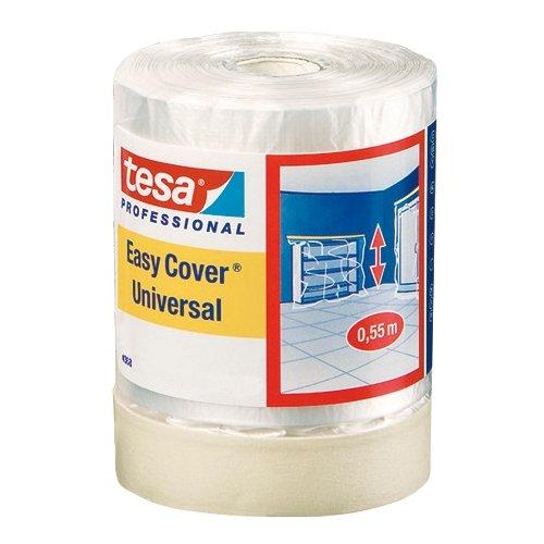 Tesa 04368-00011-01  Easy Cover 4368 Premium Malerkrepp mit Abdeckfolie 33 m:300 mm