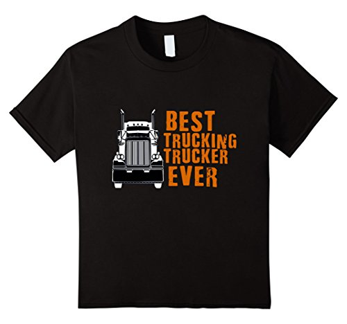 TRUCKING T SHIRT Best Tucking Truck Driver Ever Kinder, Größe 140 Schwarz