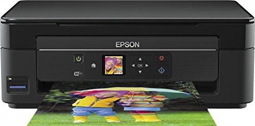 Epson Expression Home XP-342 3-in-1Tintenstrahl-Multifunktionsgerät (Drucker, Scanner, Kopierer, WiFi, Einzelpatronen) schwarz