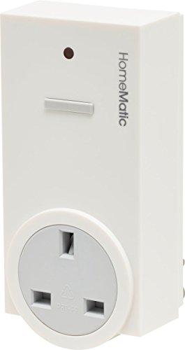 Homematic 141132A0 Funk-Schaltaktor 1-Fach mit Leistungsmessung, Zwischenstecker, Typ G (Vereinigtes Königreich)