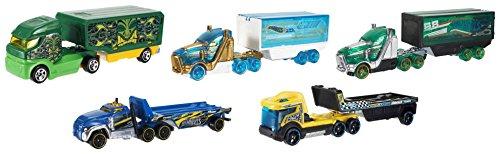 Mattel Hot Wheels BFM60 Truckin' Transporter, je 1 Fahrzeug, zufällige Auswahl