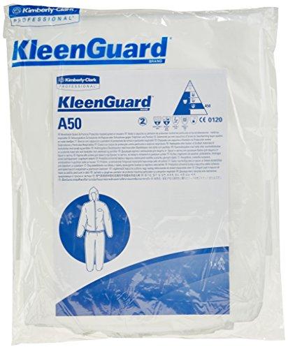 KleenGuard 99460 A50 Jacke (Leistungsstarkes Material mit Kapuze), 15-er Pack