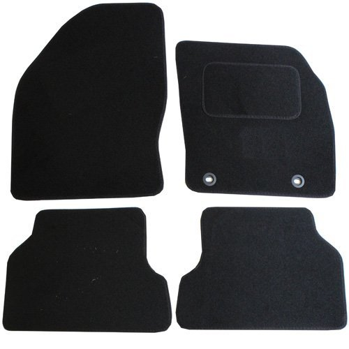 JVL Fußmatten für Ford Mondeo MK2005 (2011-), passgenaues Automatten-Set mit 2 ovalen Clips, SchwarzJVL Fußmatten für Ford Focus ST 2005-2011, passgenaues Automatten-Set mit 2 ovalen Clips, Schwarz