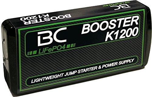 BC Battery Controller Booster K1200-12V 400A - Starthilfe-Booster für Auto und Motorrad + Tragbarer USB Power Bank 8000mAh für Smartphones und Tablets + LED-Taschenlampe