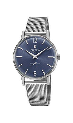 Festina Herren Analog Quarz Uhr mit Edelstahl Armband F20252/3