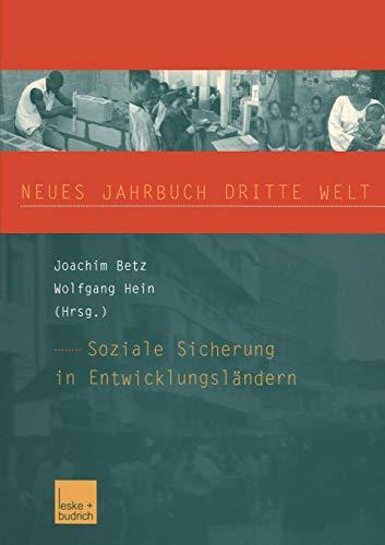Neues Jahrbuch Dritte Welt. Soziale Sicherung in Entwicklungsländern