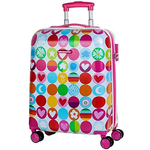 Agatha Ruiz De La Prada Happy Koffer, 55 cm, 40 liters, Pink (Fucsia)
