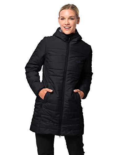 Jack Wolfskin Damen Maryland Coat Steppmantel Winddicht Wasserabweisend Atmungsaktiv Mantel, schwarz, M