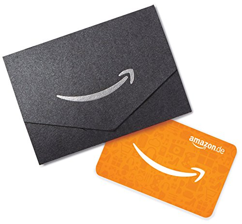 Amazon.de Geschenkkarte in Geschenkkuvert - 50 EUR (Schwarz)