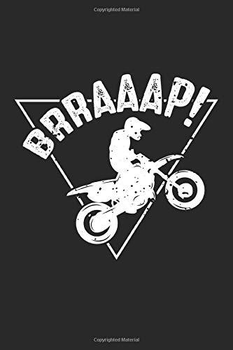 Brraaap!: Lustiger Dirt Bike Motocross Fahrer  Notizbuch liniert DIN A5 - 120 Seiten für Notizen, Zeichnungen, Formeln | Organizer Schreibheft Planer Tagebuch