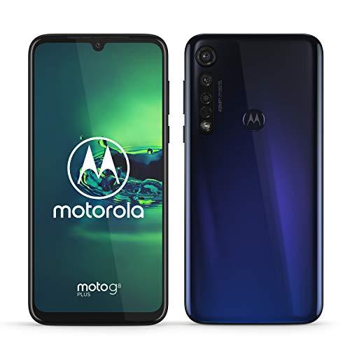Motorola Mobility PAGE0001DE moto g8 plus Dual-SIM Smartphone (6,3 Zoll-Max Vision-Display, 48-MP-Quad-Pixel-Triple-Kamera, 64 GB/4 GB, Android 9.0) Blau