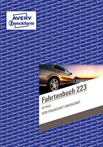 AVERY Zweckform 223 Fahrtenbuch (für PKW, vom Finanzamt anerkannt, A5, auf 80 Seiten für insgesamt 858 Fahrten, für Deutschland und Österreich zur Abgrenzung privater und geschäftlicher Fahrten)