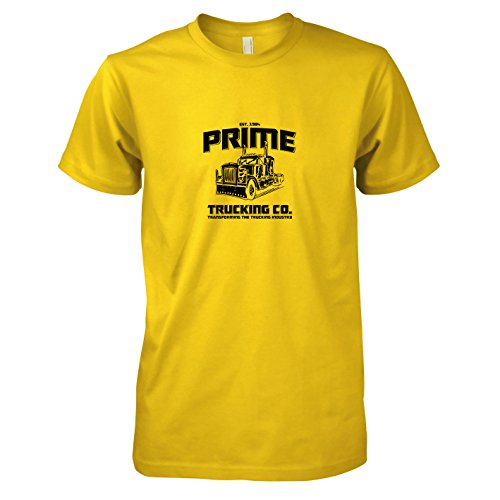 Texlab Herren Prime Trucking T-Shirt, Gelb, S