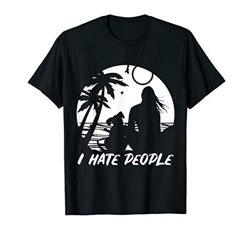 Ich hasse Leute, die ich liebe Hunde-Shirt, Hunde-T-Shirt, H T-Shirt