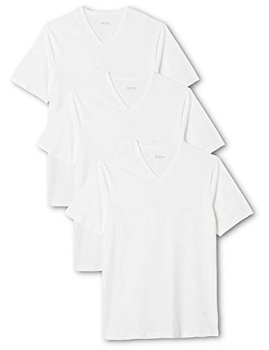 BOSS Herren VN 3P CO T-Shirts, Weiß (White 100), L (3er Pack)